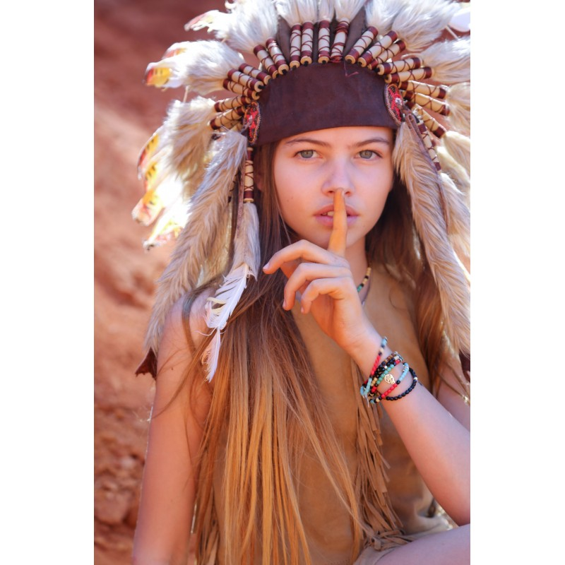 Collier et Bracelet 2 tours Plume Navajo