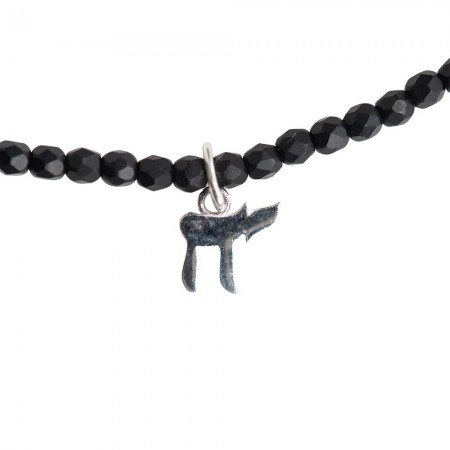 Collier et Bracelet 3 tours Haï, La Vie Noir Mat