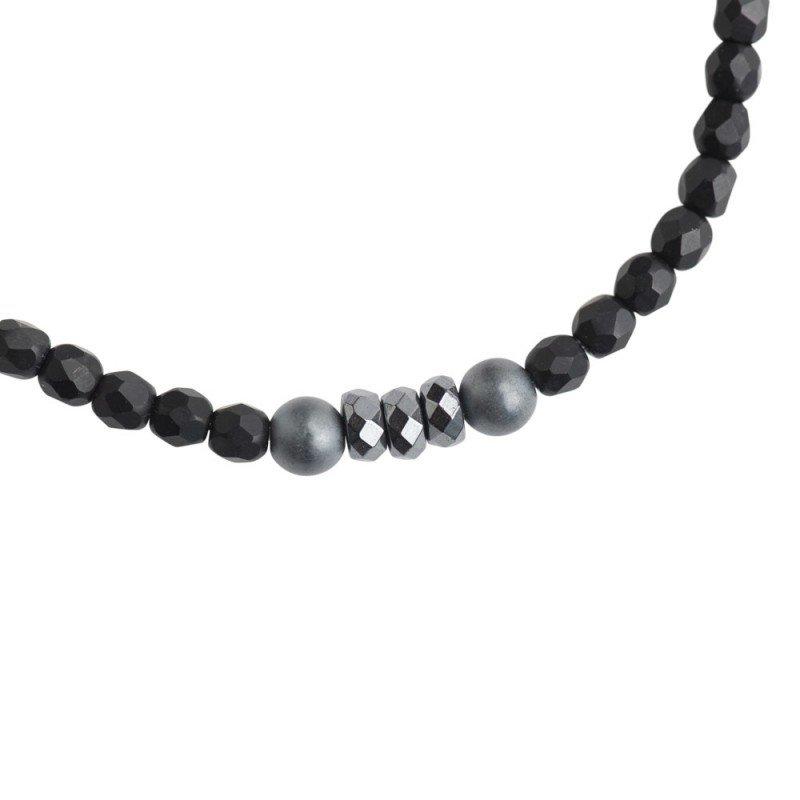 Collier et Bracelet 5 à 6 tours Vero Noir Mat