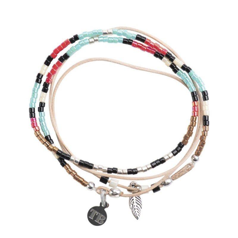 Bracelet cuir POW WOW