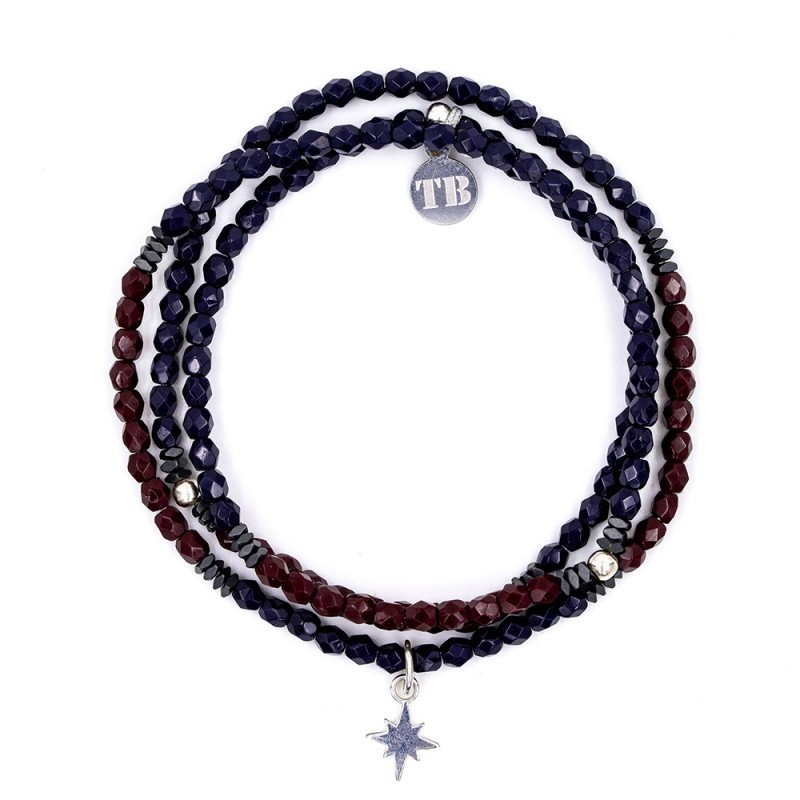 Collier et Bracelet 3 tours Polaire Midnight