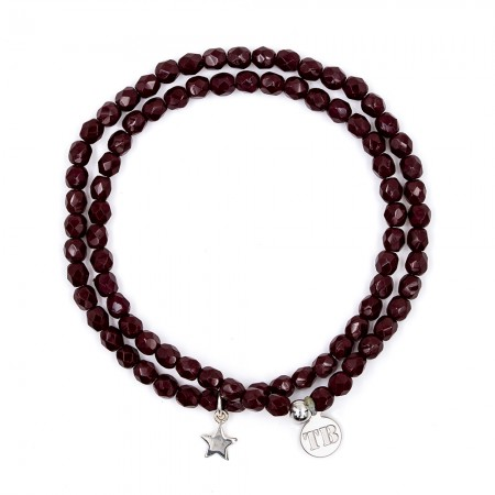 Collier et Bracelet 2 tours Star Bordeaux