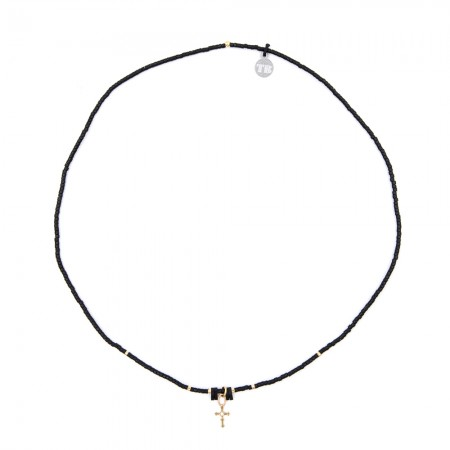 Collier Ultra fin Moon Child Slim Black