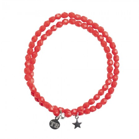 CO.BRA STAR Bracelet 2 tours STAR Rouge - Sélection 2020