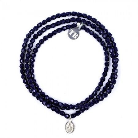 Bracelet 3 tours PETITE MADONE Marine
