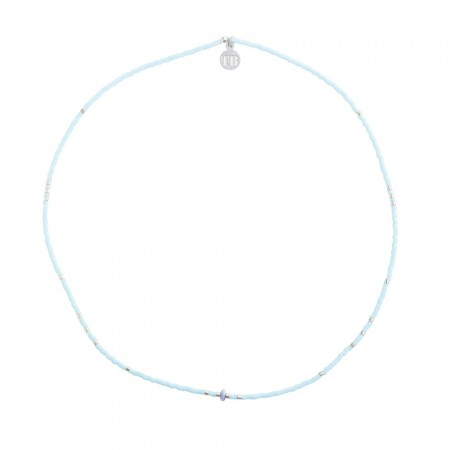 Collier 4 ELEMENTS SLIM bleu ciel