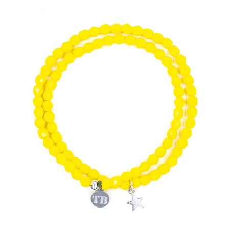 Collier et Bracelet 2 tours Playa Star Jaune