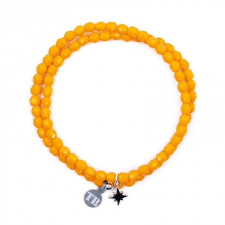 Collier et Bracelet 2 tours Playa Polaire Orange