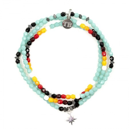Collier et Bracelet 3 tours Playa Polaire Apache Summer