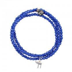 Bracelet 3 tours et collier Playa HaÏ Bleu Lapis