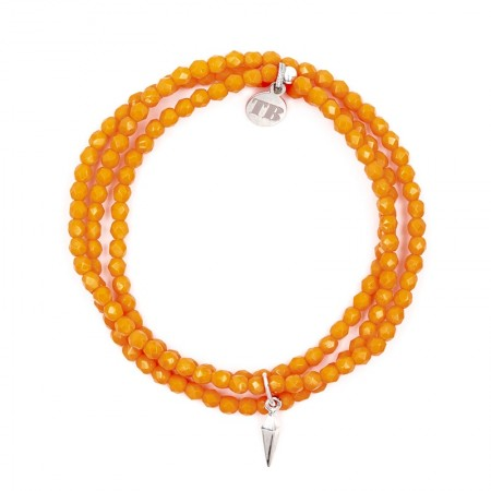 Collier et Bracelet 3 tours Playa Thylane Orange