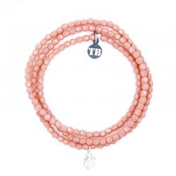 Bracelet 3 tours et collier petite Madone Rose - Vue 3 tours