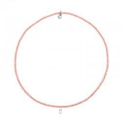 Bracelet 3 tours et collier petite Madone Rose - Vue Collier