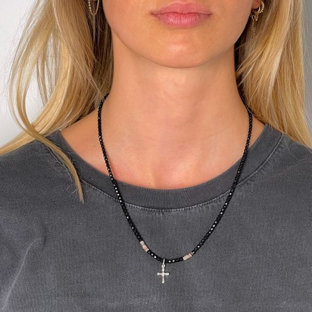 Collier et Bracelet 3 tours Magdala Diams - Version Black