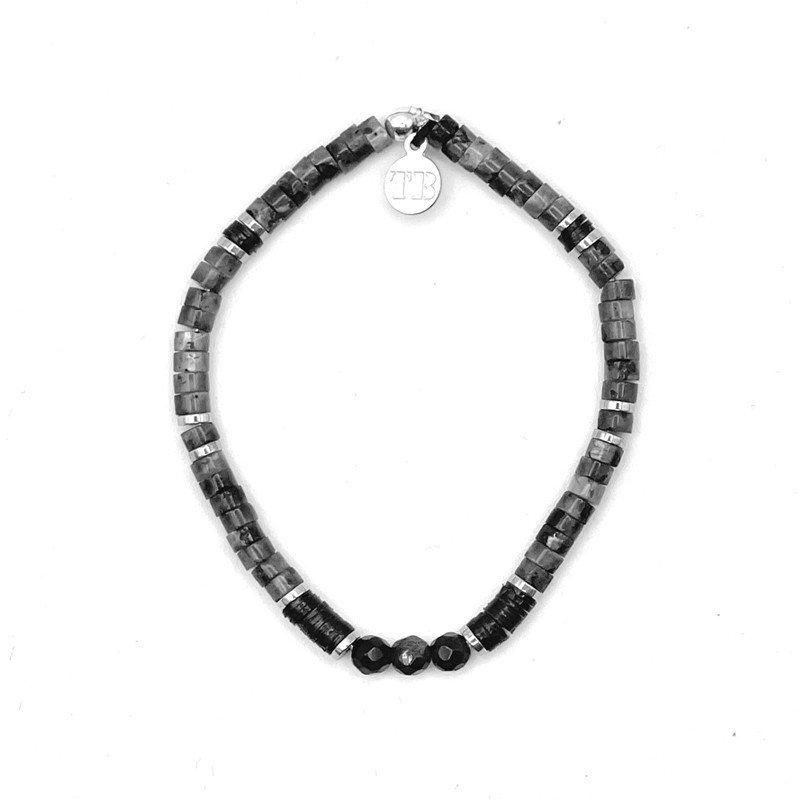 Bracelet Femme 1 tour Toni Labradorite Obsidienne