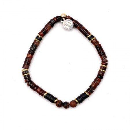 Bracelet Femme 1 tour Gerry Oeil De Taureau Obsidienne