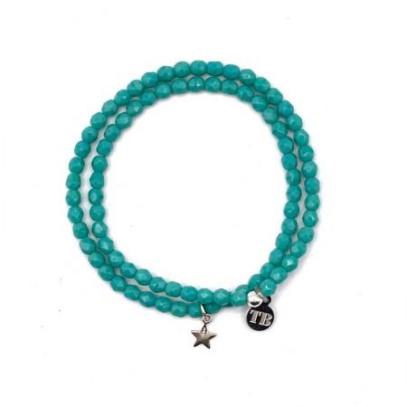 Collier et Bracelet 2 tours Star Turquoise