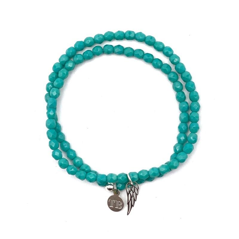 Collier et Bracelet 2 tours Angel Turquoise