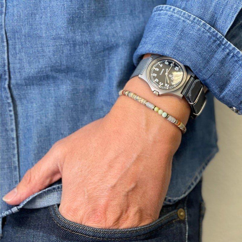 Bracelet Homme Bob Caramel Jaspe Imperial