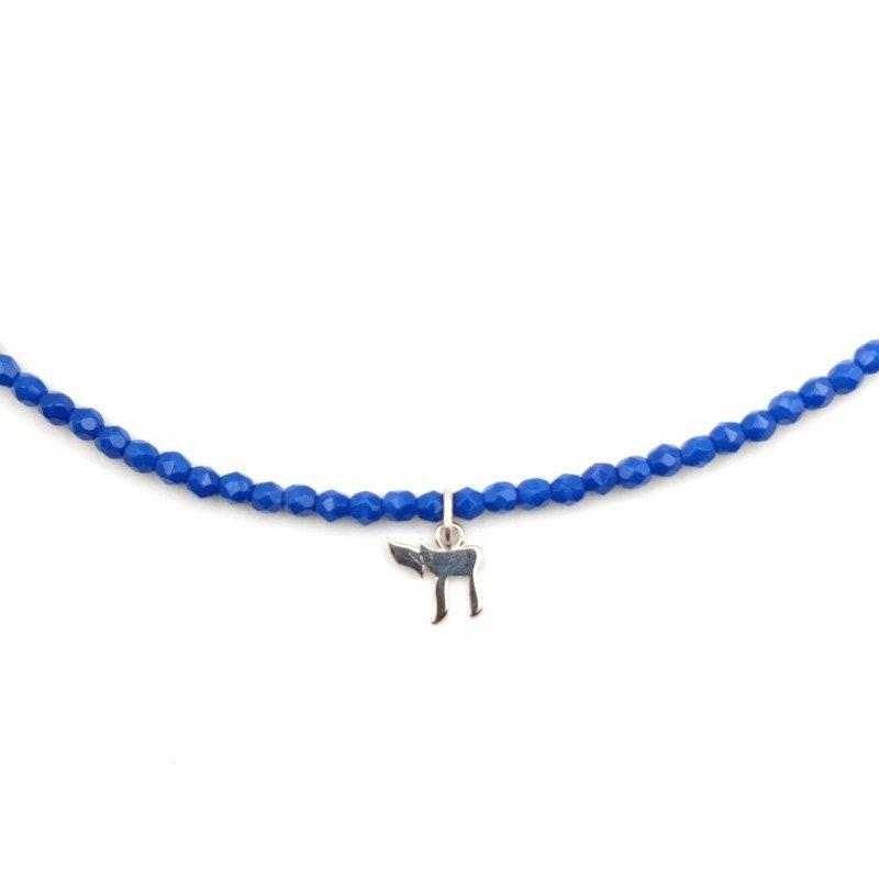 Collier et Bracelet 3 tours Haï Véronika Loubry - Bleu Majorelle