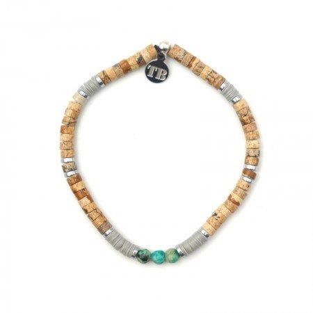 Bracelet Homme Charles Beige Turquoise - Homme