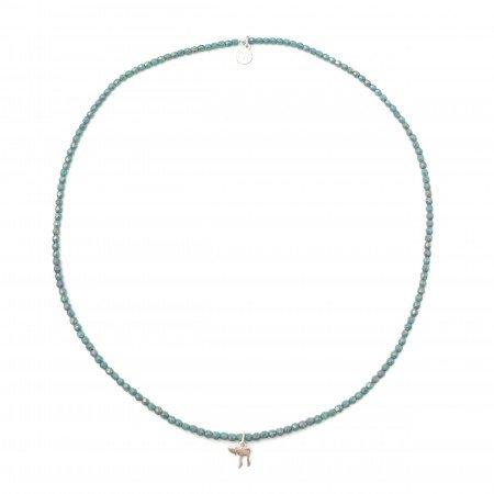 Collier et Bracelet 3 tours Haï, La Vie - Turquoise Moon Dust