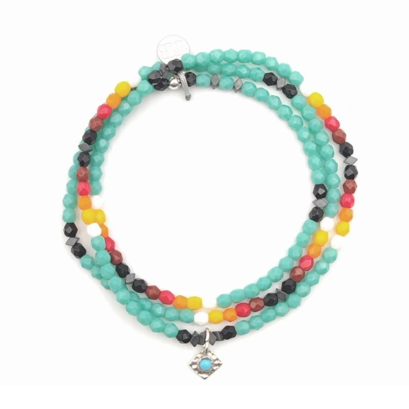 Collier et Bracelet 3 tours Playa Itsa Apache Summer