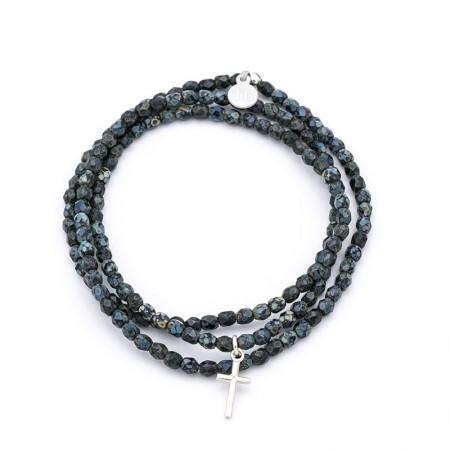Cross Noir Rock bracelet 3 tours