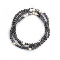 Bracelet 3 tours gris madonna