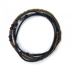 Bracelet cuir kaki