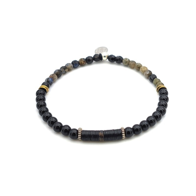 Bracelet Noir Onyx femme