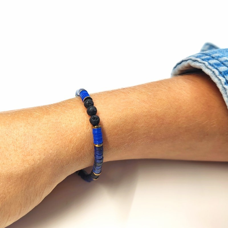Bracelet Femme 1 tour Tom Bleu Lapis-Lazuli